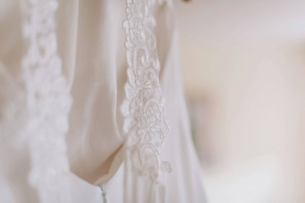 Alja Slemensek - Custom Clothing - Detail on the Wedding Dress for Maja Monroe Grabrovec