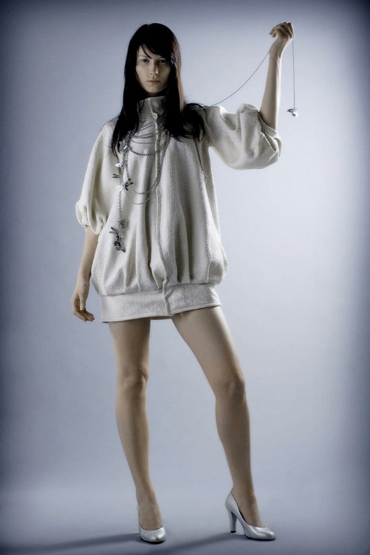 Alja Slemensek - Fashion Collection - Graduate - White Short Coat