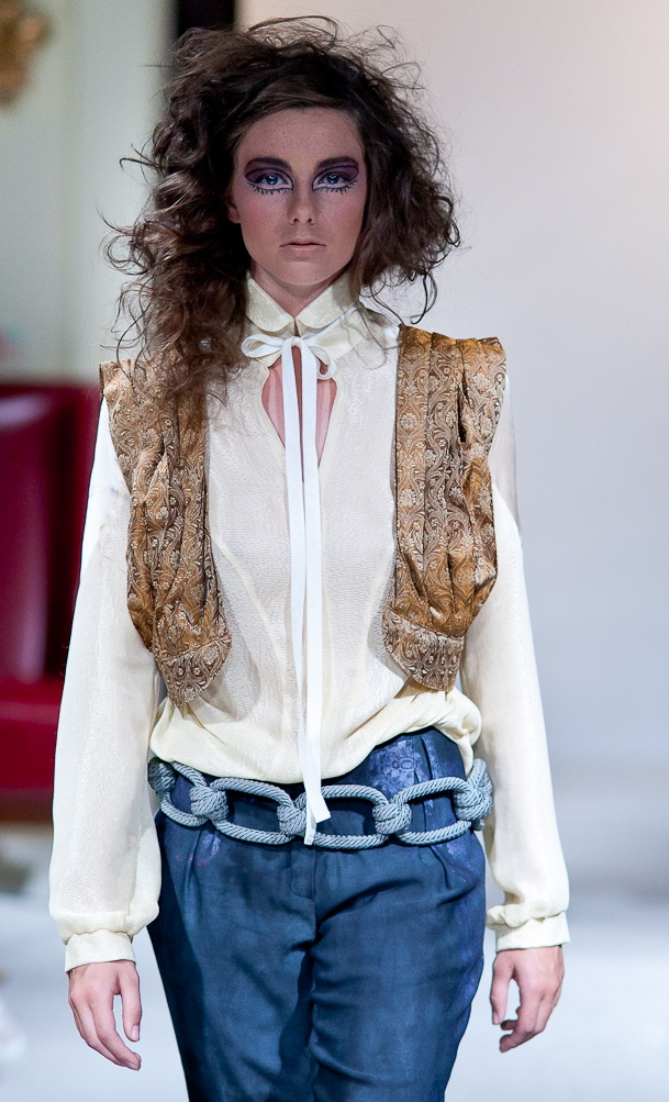 Alja Slemensek - Fashion Collection for London Fashion Week - Beige Blouse
