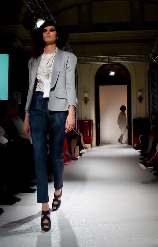Alja Slemensek - Fashion Collection for London Fashion Week - Grey & Blue Women's Suit