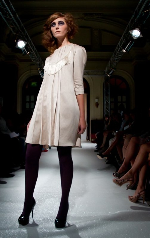 Alja Slemensek - Fashion Collection for London Fashion Week - Beige Dress