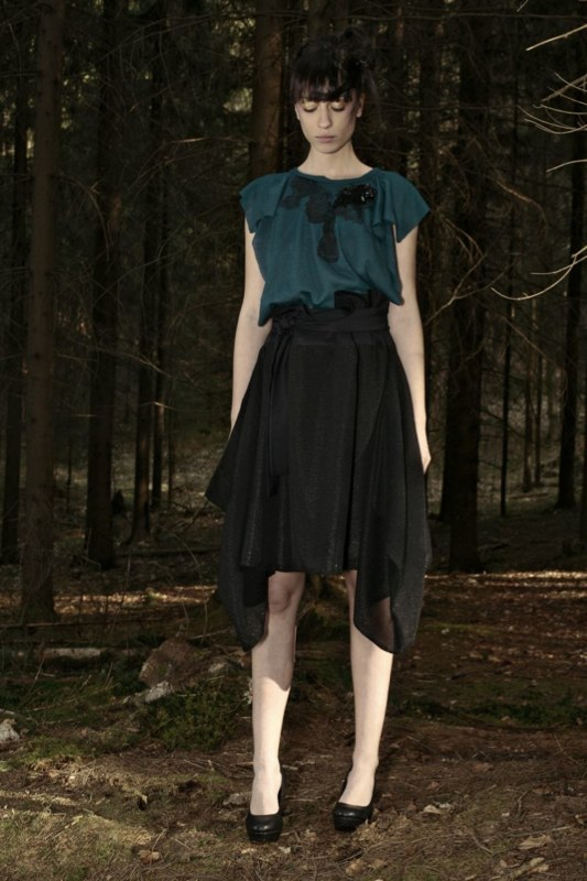 Alja Slemensek - Fashion Collection - Origami Warrior - Black Skirt