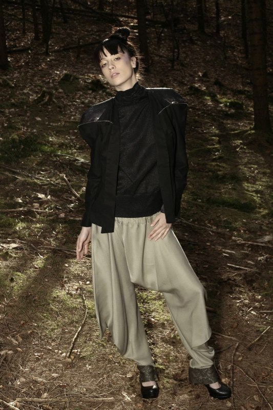 Alja Slemensek - Fashion Collection - Origami Warrior - Olive Pants