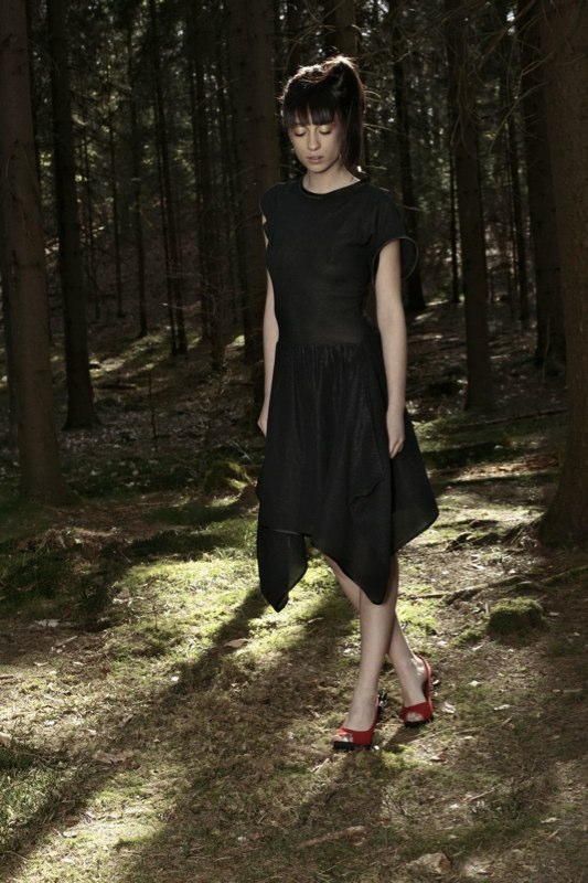 Alja Slemensek - Fashion Collection - Origami Warrior - Black Dress & One Step Forward