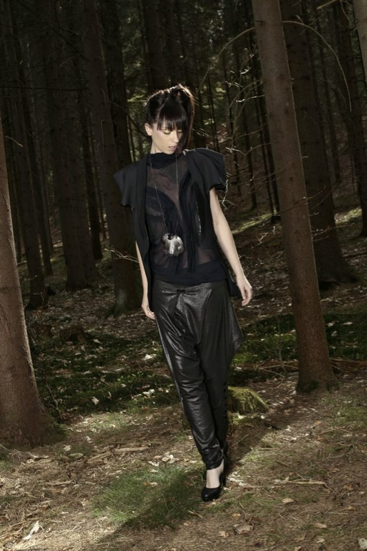 Alja Slemensek - Fashion Collection - Origami Warrior - Black Pants & Look Down