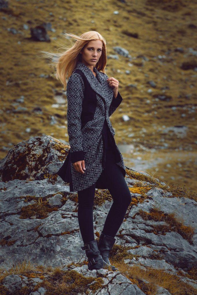 Alja Slemensek - Lookbook - Winter Pattern Coat