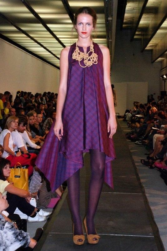 Alja Slemensek - Lookbook - Long Purple Pattern Dress
