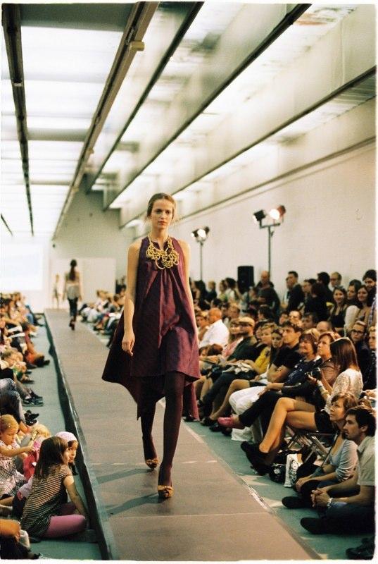 Alja Slemensek - Lookbook - Long Purple Dress Catwalk