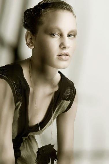 Alja Slemensek - Lookbook - Pattern Dress & Necklace