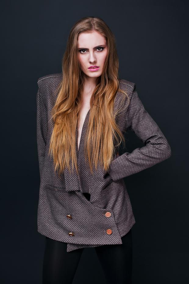 Alja Slemensek - Lookbook - Purple Pattern Vintage Jacket