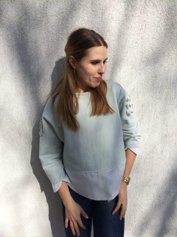 Damen Pullover aus Bio-Baumwolle - Kristall Rose