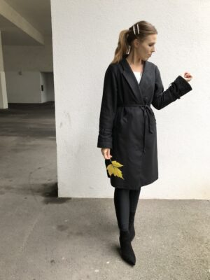 Black trench coat