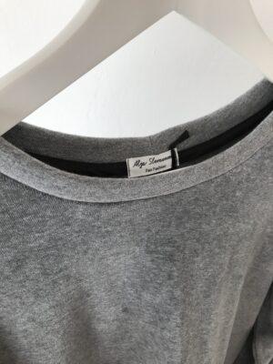 Grey organic cotton coral sweater