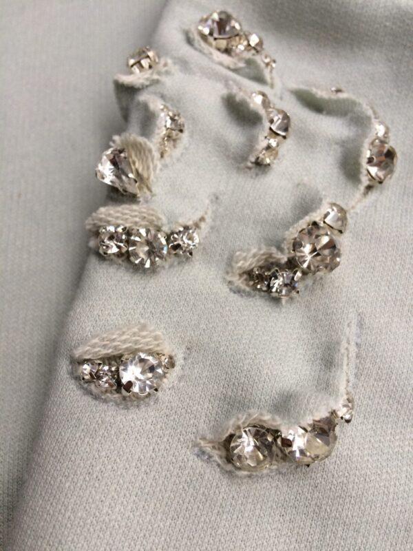 Damen Pullover aus Bio-Baumwolle - Kristall Rose - Detail