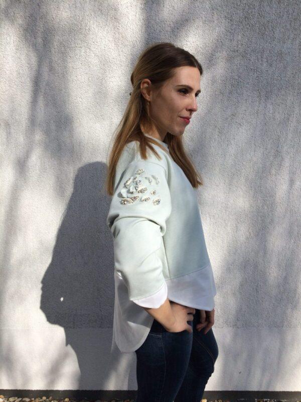 Damen Pullover aus Bio-Baumwolle - Kristall Rose - Seite