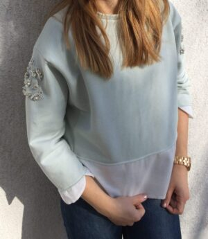 Organic cotton sweater crystal rose