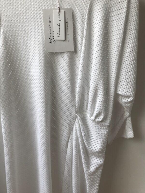 Mesh white asymmetric dress