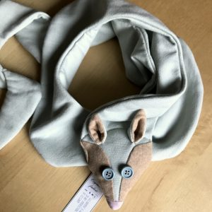 Organic Fox Scarf Kids Pale Blue Eyes
