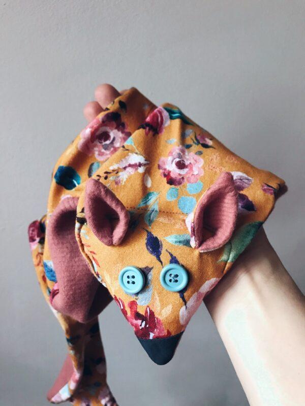 Vegan Fox Scarf - Kids - Floral - Pink