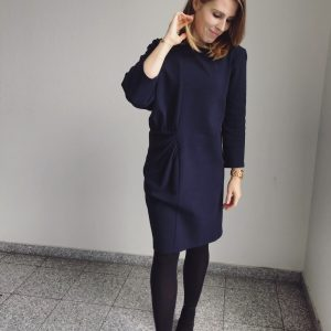 Deep Blue asymmetric dress
