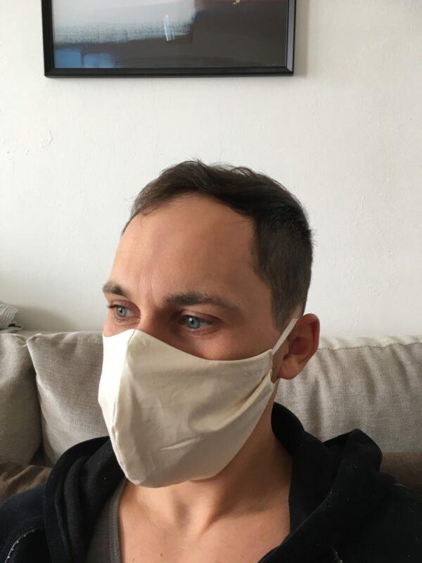 organic cotton face mask - men - side