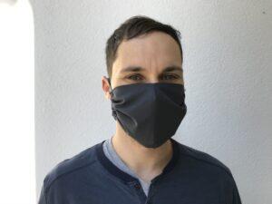 Cloth face mask - black - men - front