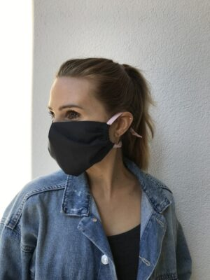 Cloth face mask - black - women - right side
