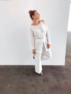 White Mesh Blouse - Organic Cotton