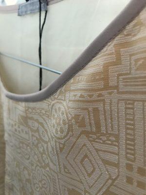 Beige Crop Top - Silk Cotton - Detail