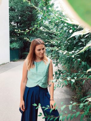 Green Crop Top - Shantung Silk - Mood