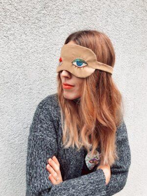 Sleep Mask - Eyes - Bronze