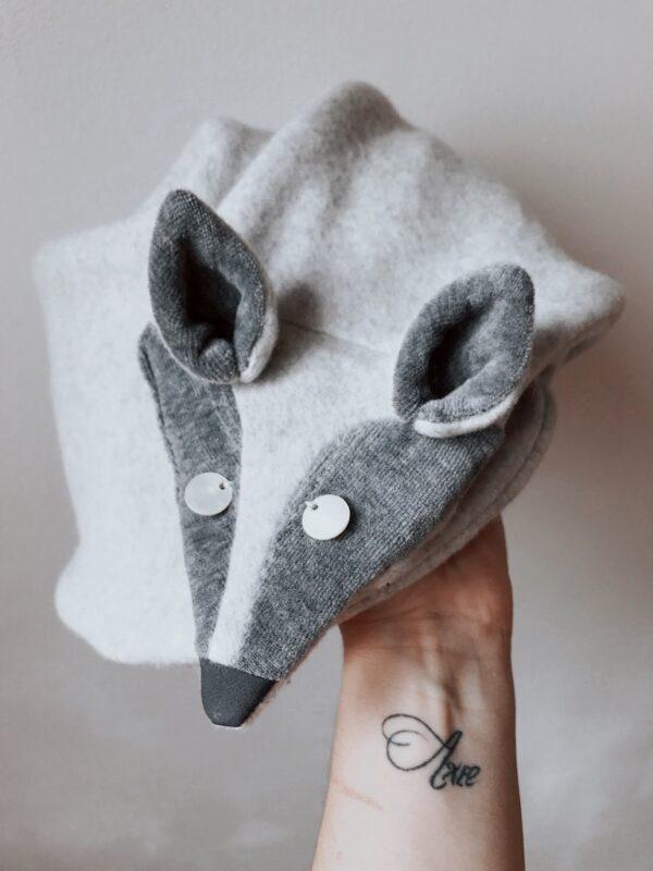 Animal Scarf for Women - Arctic Fox