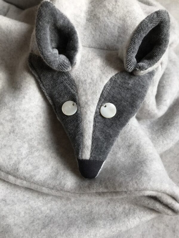 Animal Scarf for Women - Arctic Fox - Close Up