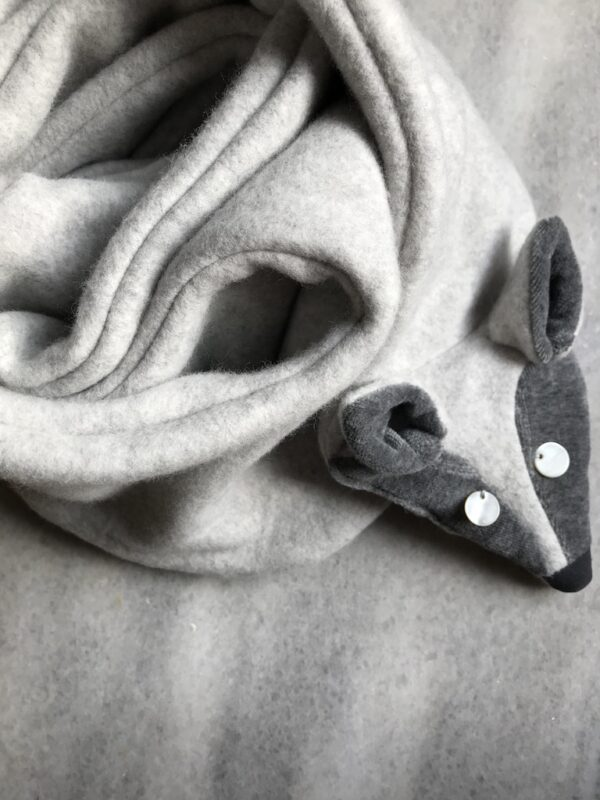 Animal Scarf for Women - Arctic Fox - Wrapped