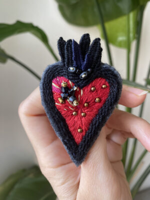 Brooch Embroidery - Sacred Heart